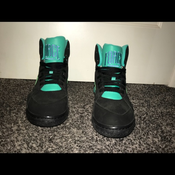 Air Nike 180 Force Mid Atomic Black Teal N08nPXOkZw